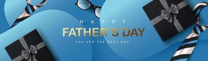 feliz dia dos pais banner fundo vetor