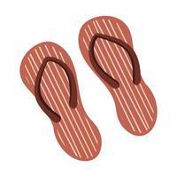 sapatos de praia com listras chinelos calçados de verão vetor