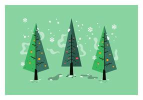 Árvore de Natal de meados do século Vector