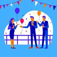 Festas e reuniões do escritório vetor