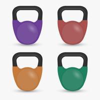 Realista Fitness equipamentos ginásio Kettlebell isolado Vector Illustratio