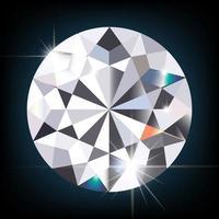 diamante cintilante em fundo preto vector eps10