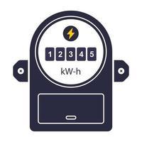 ícone do dispositivo para medir o consumo de eletricidade ilustração vetorial plana vetor
