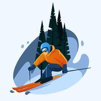 esquiador vetor