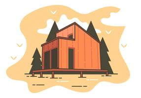 Cabana na floresta vetor