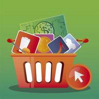compras online serviço de entrega móvel pagamento pela internet vetor