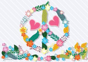 Paz e amor ilustração