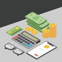 calculadora de telefone fiscal vetor