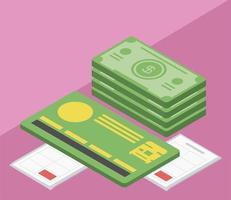 cartão do banco fiscal vetor