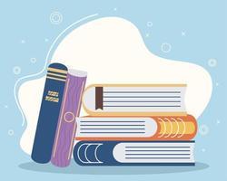 literatura de livro diferente vetor