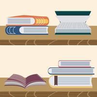estantes de livros educação vetor