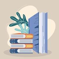 pilha de livros capa dura vetor
