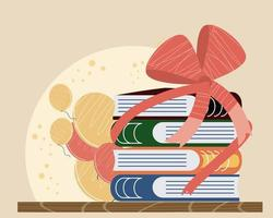 balões de livros embrulhados vetor