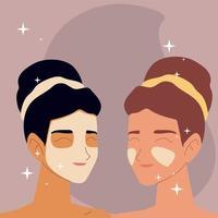 rotina de cuidados com a pele para meninas vetor