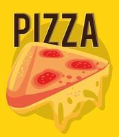 pizza fast food vetor