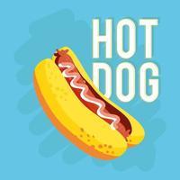 cachorro-quente fast food vetor
