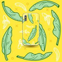 Folha de banana vetor