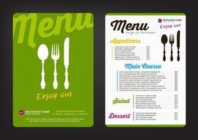 modelo de design de menu vetor