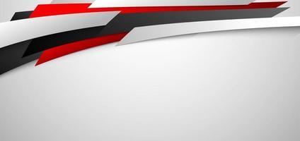 banner corporativo abstrato web design diagonal geométrica vermelha e branca em fundo branco vetor