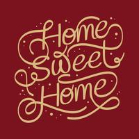 Letras de lar doce lar vetor