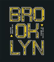 design de camiseta tipografia brooklyn vetor