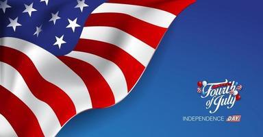 modelo de banner do dia da independência eua vetor
