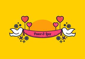 Vetor de paz e amor