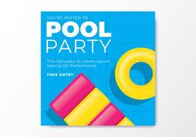 Cartão do convite da festa na piscina vetor