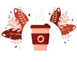 dia internacional do café xícara de café bebida quente vetor