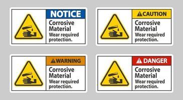 materiais corrosivos desgaste proteção necessária vetor
