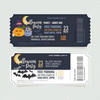 Bilhetes de festa de Halloween de vetor
