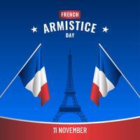 Vector de armistício francês dia