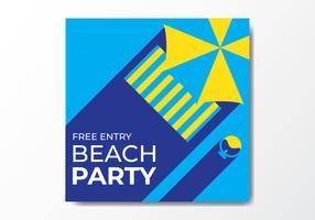 Modelo de Cartaz - festa de praia vetor