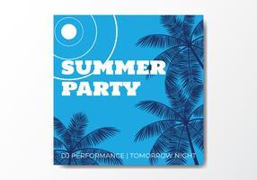 Noite de festa de praia de verão vetor