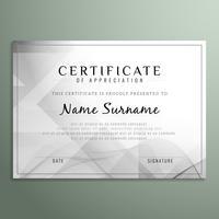 Resumo certificado de fundo vetor