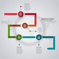 Fundo abstrato infográfico criativo vetor