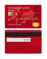 cartão de banco de plástico de crédito ou débito para aplicativos e sites vetor
