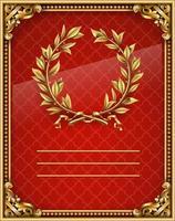 coroa de louros antiga e realista vintage vencedora vetor
