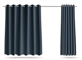 cortina cortina isolada no branco vetor