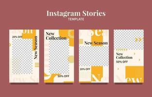 modelo de histórias de mídia social vetor