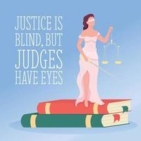 justiça mídia social pós maquete vetor