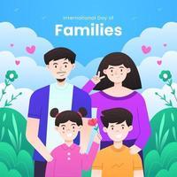ilustração do dia internacional das famílias vetor