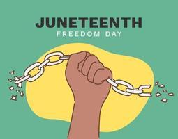 Décimo Primeiro Dia da Independência, Dia da Liberdade ou da Emancipação, Feriado Anual Americano, celebrado em 19 de Junho. vetor