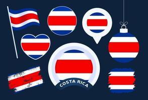 coleção de vetores da bandeira da costa rica