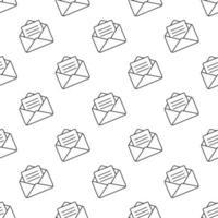 um envelope com um padrão uniforme de mensagem vetor