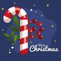 banner candy cane de natal de ano novo e celebração de feliz natal vetor