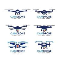 ícone de vetor modelo de logotipo drone