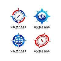 design do ícone do logotipo da bússola vetor