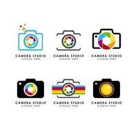 ícone de vetor de modelo de logotipo de câmera