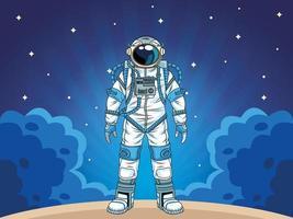 astronauta no personagem espacial vetor
